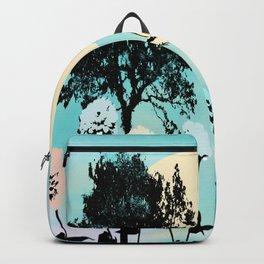 Turquoise landscape Backpack