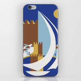 Come to the islands retro travel iPhone Skin
