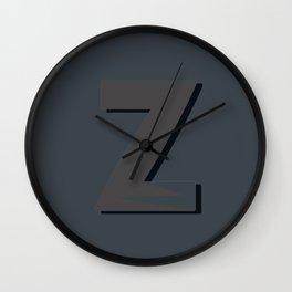 Alphabet Deconstructed Letter Z Wall Clock
