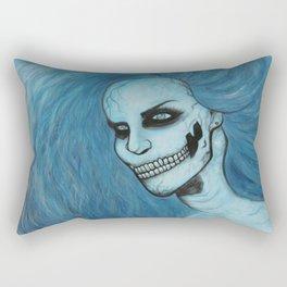 Skeleton Girl #3 Rectangular Pillow