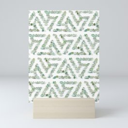 Sea glass - green triskelion Mini Art Print