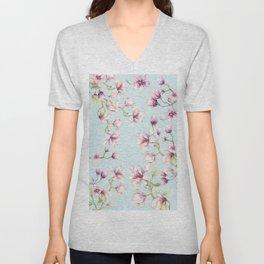 Delicate Magnolia Unisex V-Neck