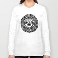 sloth Long Sleeve T-shirts featuring Sloth by Emma Barker