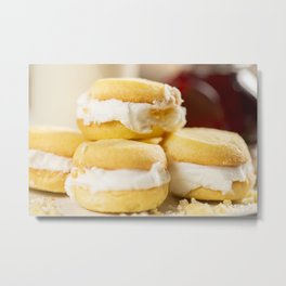 Melting Moments Biscuits Metal Print