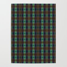Colorful Plaid Poster