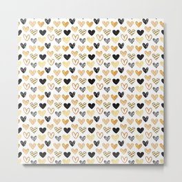 Pattern from painted hearts Metal Print
