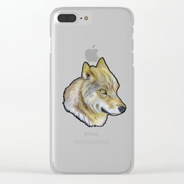 Mongolian Wolf Clear iPhone Case