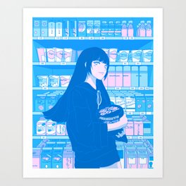 Tokyo GF w/ Yumeko Jabami - Shibuya Shopping Art Print