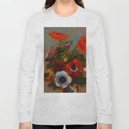 "Odilon Redon ""Les Anemones (Still Life with Anemones)"", c. 1900-1910 Long Sleeve T-shirt"