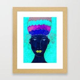 Turban Queen Framed Art Print