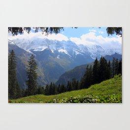 Swiss Alps View Canvas Print