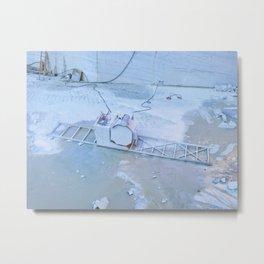 Carrara marble quarry in Italy Metal Print