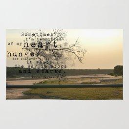 My Heart - Edgar Allan Poe Rug