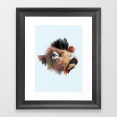 Crazy Cow Framed Art Print