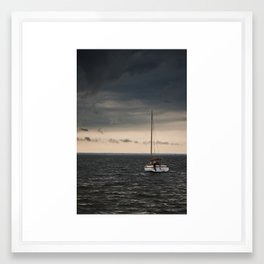Stormy Bay Framed Art Print