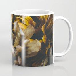 Fall Zinnia Flowers on Wood Coffee Mug