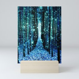 Magical Forest Teal Turquoise Mini Art Print