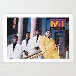 Heavy D & the Boyz - BLM - Hip Hop - Society6 - Dwight Arrington Myers 34 Art Print