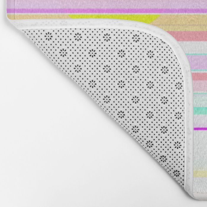 Re-Created Intersection III by Robert S. Lee Bath Mat