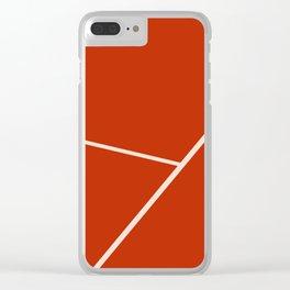 Tennis court gravel Clear iPhone Case