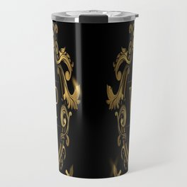 VIP In Black and Goldtone Travel Mug
