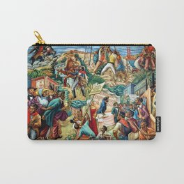 """African American Classical Masterpiece """"Justice Under the Law"""" by Hale Woodruff Carry-All Pouch"""