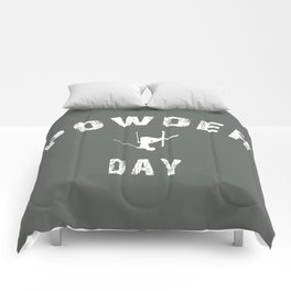 Powder Day Grey Comforters
