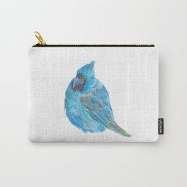 Blue Cardinal, Cardinal, Bird, Print, Bird Print, Watercolor Cardinal Carry-All Pouch