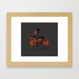 ktm lady Framed Art Print