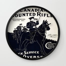 Vintage poster - Canadian Mounted Rifles Wall Clock