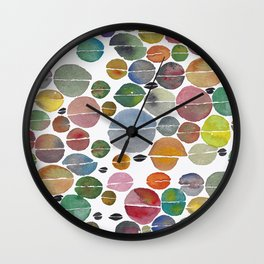 Multi-colored coffee beans Wall Clock