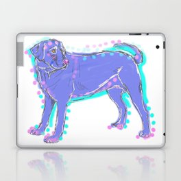 The happy LABRADOR RETRIEVER Love of My Life - your Lab dog keeps you smiling! Laptop & iPad Skin