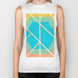 Leaf - color graphic Biker Tank