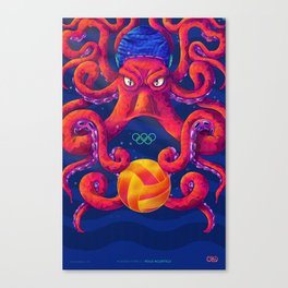Drawlympics / Waterpolo Canvas Print