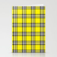 clueless Stationery Cards featuring As If Plaid by Kat Mun