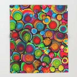 Conscious Overlap (Alcohol Inks Series 03) Throw Blanket