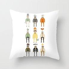 Walter White Pixelart Transformation- Breaking Bad Throw Pillow