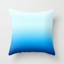 Ombre Blue with Turquoise Throw Pillow