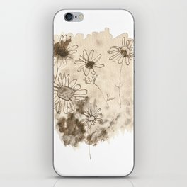 Flowers - Abstract sepia art iPhone Skin