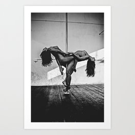 Pole Dance 2 Art Print