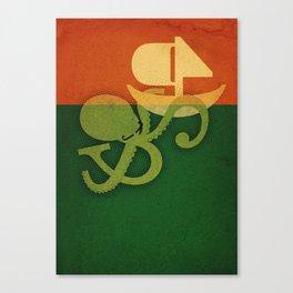 Tako attack Canvas Print