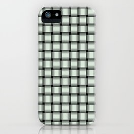 Small Pastel Green Weave iPhone Case