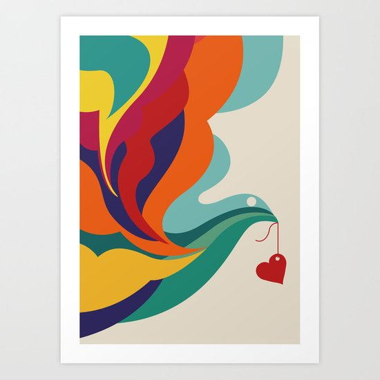 Love Message Art Print