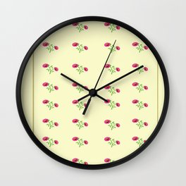 stand in line flowers Wall Clock