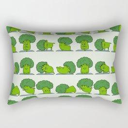 Broccoli Yoga Rectangular Pillow