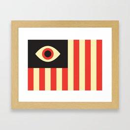 Stares and Stripes Framed Art Print