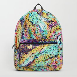 Cute Abstract Rainbow Dots Colorful Design Backpack