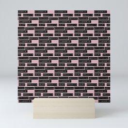 HEART</3BREAK pink sm Mini Art Print