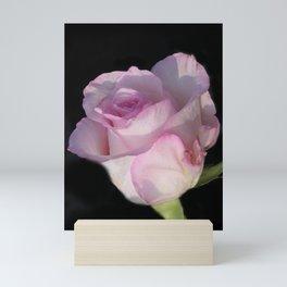 flowers of spring on black -74- Mini Art Print