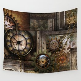 Steampunk, wonderful clockwork with gears Wall Tapestry